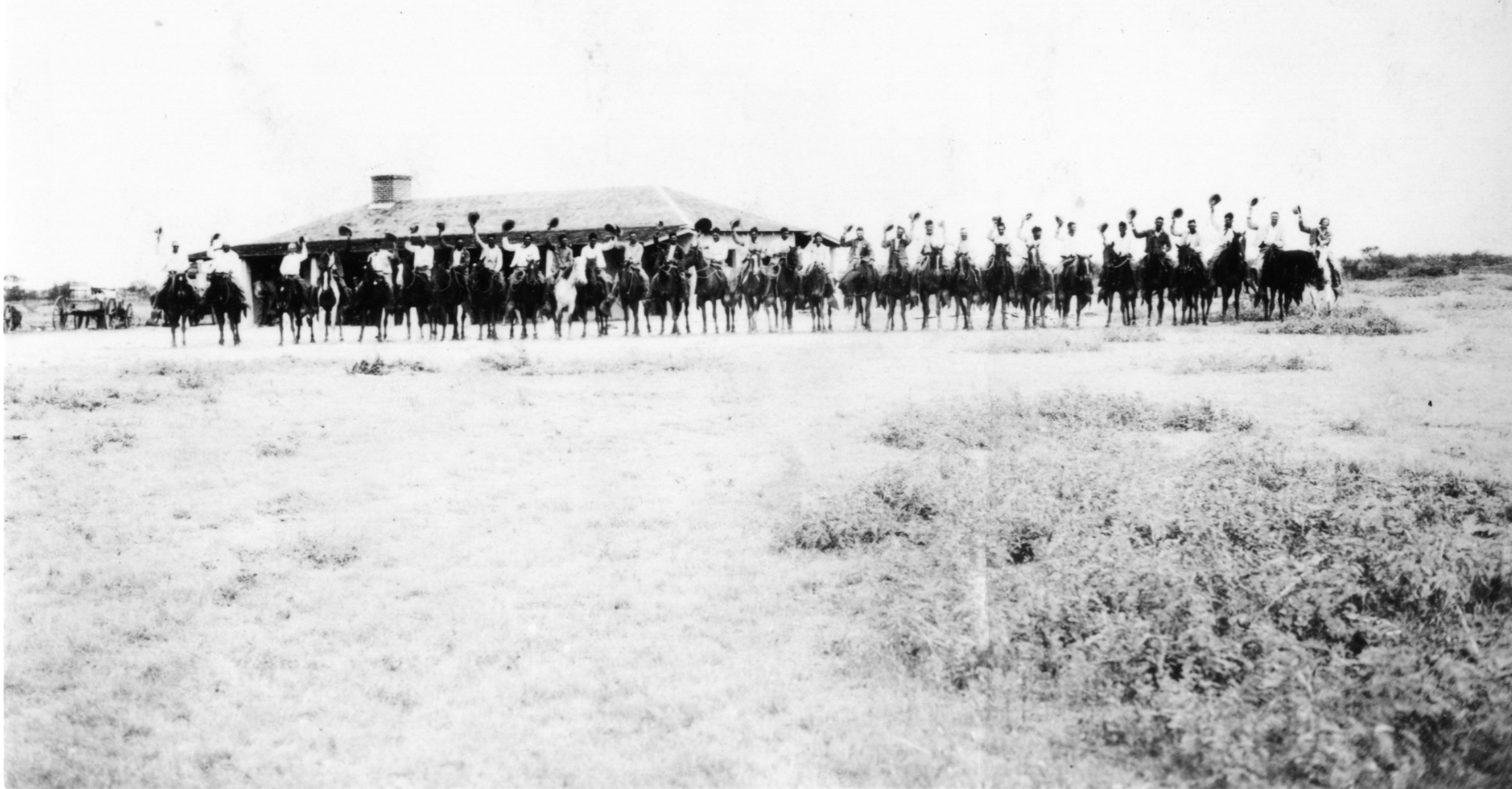 Cowboys at King Ranch Camp House