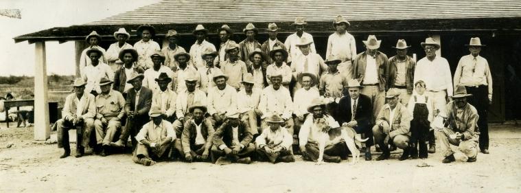 Vaqueros at King Ranch Cowboy Camp House